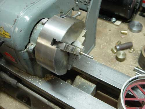 Axle in lathe