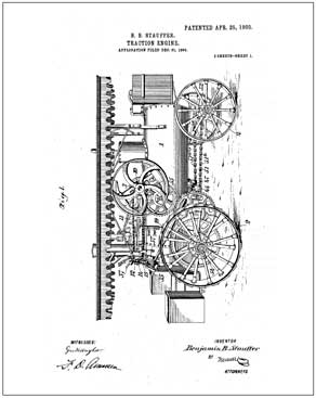 Traction engine patent