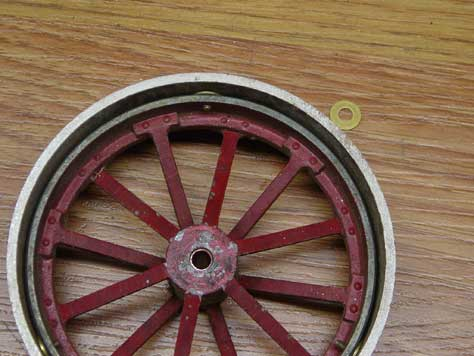 wheel with washer